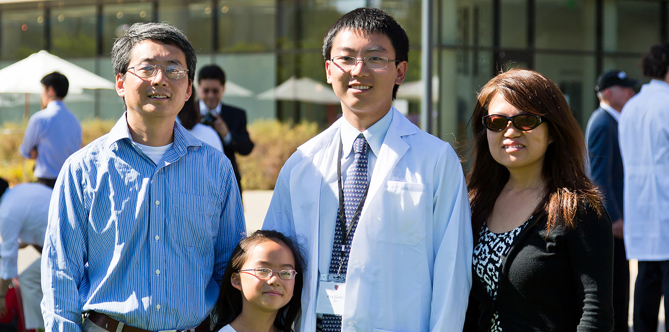 A family of a recent School of Medicine graduate